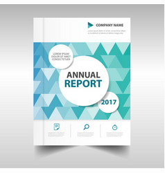 Green blue triangle business annual report vector