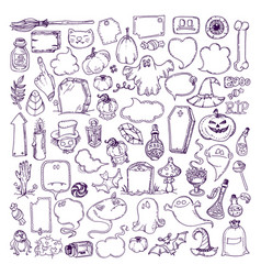 Halloween hand drawn elements vector