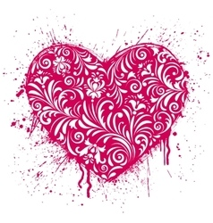 heart on white background vector image