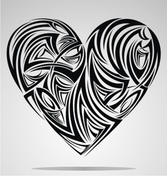 Heart shape tribal vector