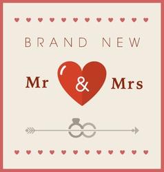 Heart theme wedding card vector