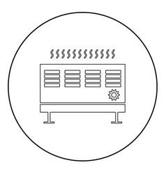 heat con icon black color in circle vector image