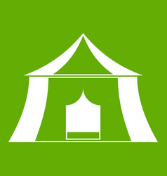Hiking pavilion icon green vector