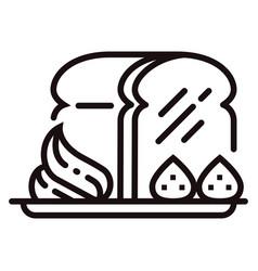 Honey toast line vector