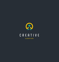 Human location creative business logo design vector
