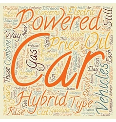 hybrid vehicles 1 text background wordcloud vector image