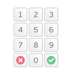 keypad entry vector image