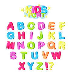 kids font multicolored bright letters of the vector image