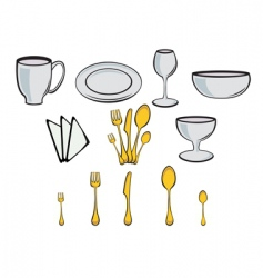 kitchenware design elements vector image