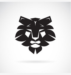 lion face design on white background wild animals vector image
