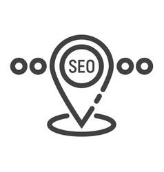 Local seo line icon seo and development vector