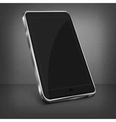 Mobile phone on black vector image
