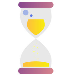 Money hourglass time clock icon on white vector