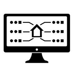 monitor icon simple black style vector image
