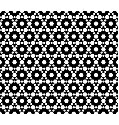 monochrome seamless pattern texture with hexagons vector image