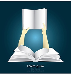 never ending learning with paper graphics style vector image