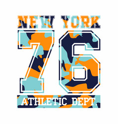 New york city athletic department camouflage vector