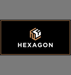nf hexagon logo design inspiration vector image