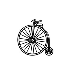 old high wheel hand drawn outline doodle icon vector image