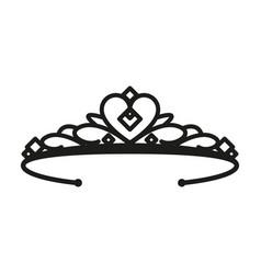 Princess tiara simple flat vector