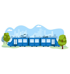 Public modern skytrain transport subway urban vector