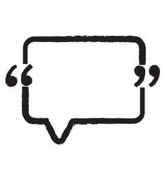 quotation mark speech bubble sign icon design vector image