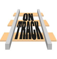 Railroad elements modern railways infrastructure vector