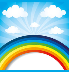 Rainbow in the sky vector