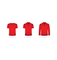 Red set of t-shirts vector