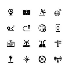 satelite navigation - flat icons vector image