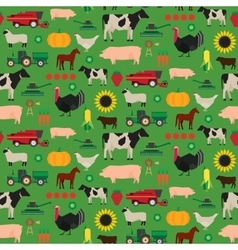 Seamless farm pattern vector image