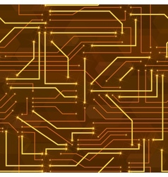 seamless high tech background with circuit board vector image