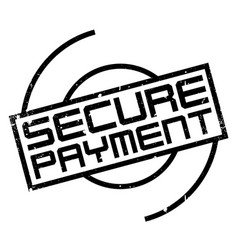 Secure payment rubber stamp vector