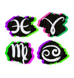 Set of zodiac signs vector