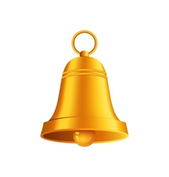 shiny golden Christmas bell vector image