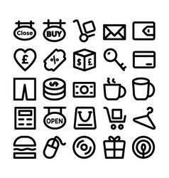 Shopping Icons 9 vector