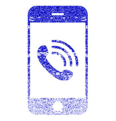 smartphone call textured icon vector image