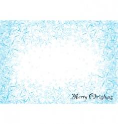 Snowflake dust vector