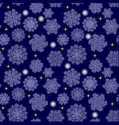 snowflakes seamless pattern holiday blue vector image
