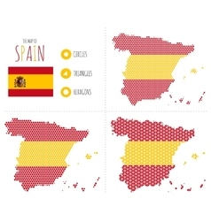 Spain Map in 3 Styles vector