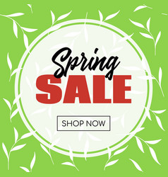spring sale banner template for online store vector image