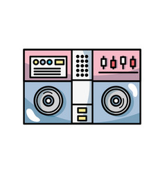 stereo to play and listen to music vector image