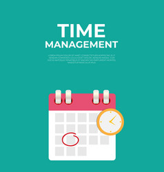 time management concept with cflendar date vector image