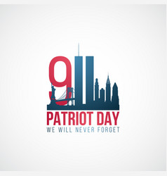 twin towers 911 usa patriot day banner world vector image