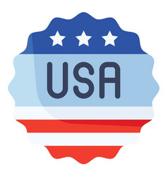 Usa badge united state independence day related vector