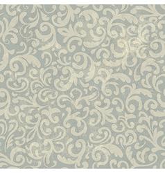 Vintage floral aged pattern vector