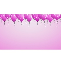 Violet balloons on violet background vector