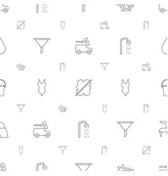 Water icons pattern seamless white background vector
