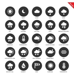 Weather forecasting icons on white background vector