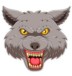 Wolf head emblem mascot vector